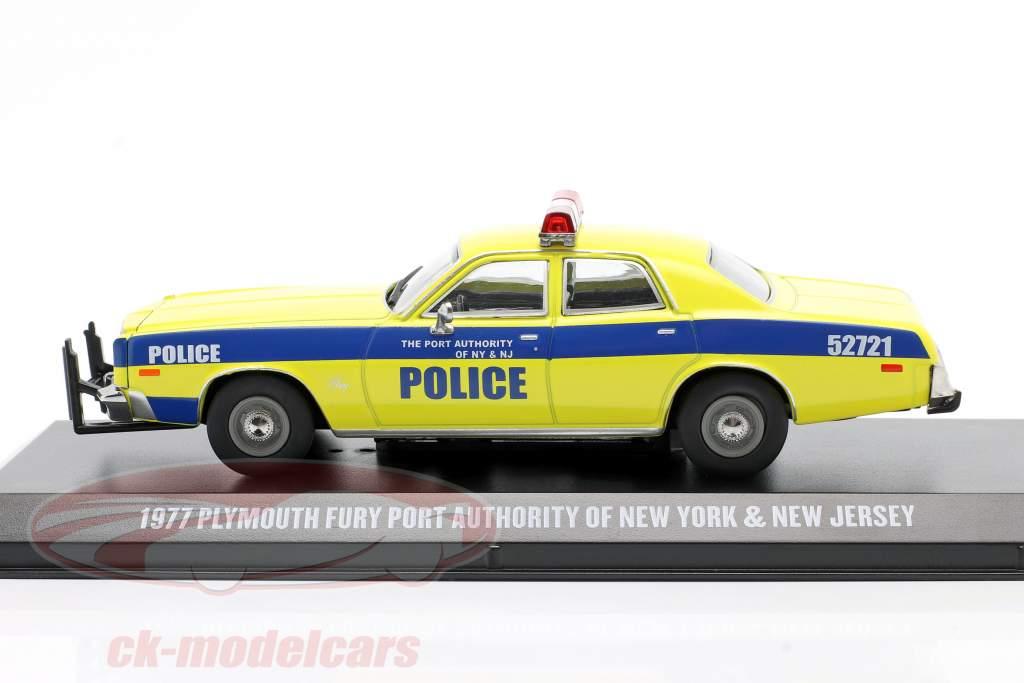 Plymouth Fury Année de construction 1977 Port Autorité New York and NJ 1:43 Greenlight