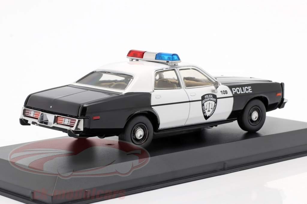 Dodge Monaco Police Año de construcción 1977 negro / Blanco 1:43 Greenlight