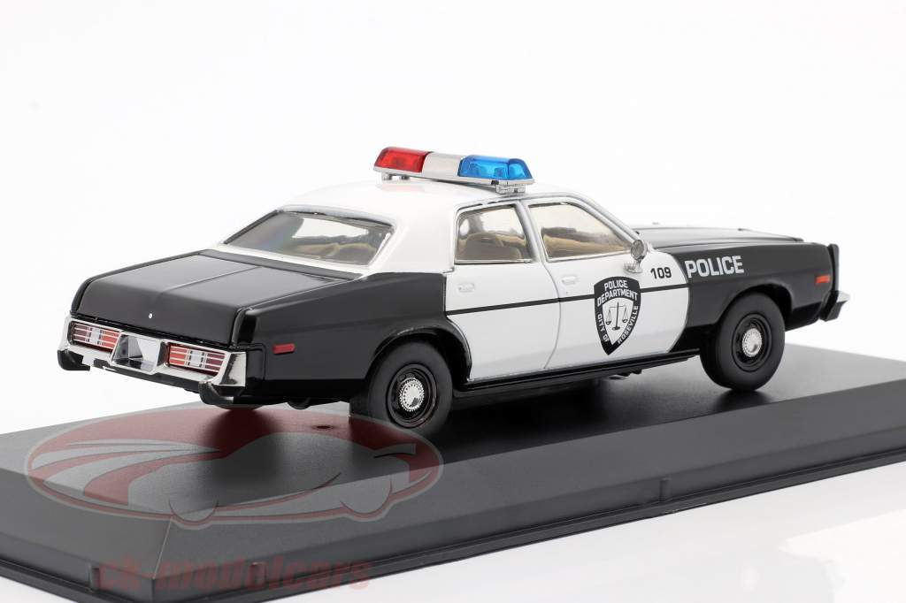 Dodge Monaco Police Bouwjaar 1977 zwart / Wit 1:43 Greenlight