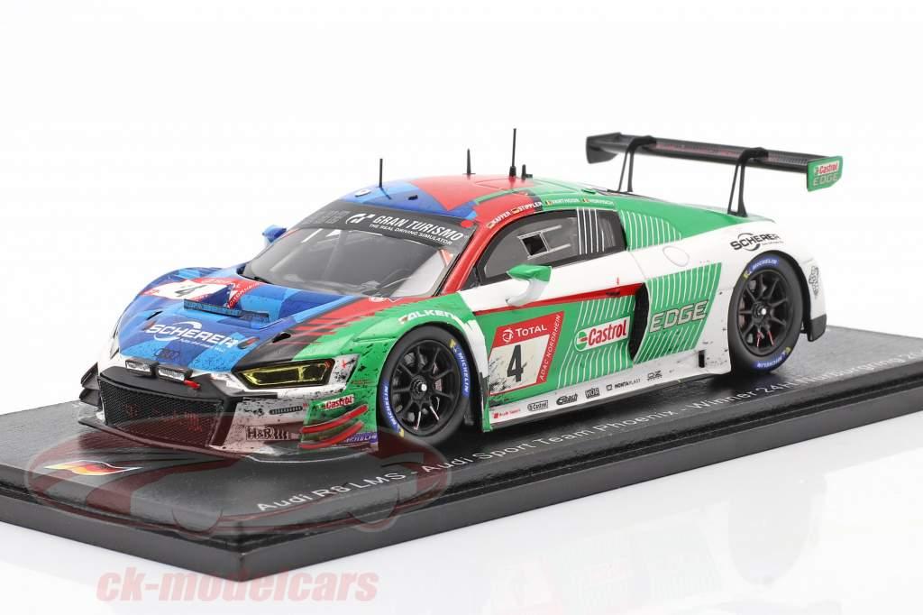 Audi R8 LMS GT3 #4 Vencedora 24h Nürburgring 2019 Sujo versão 1:43 Spark