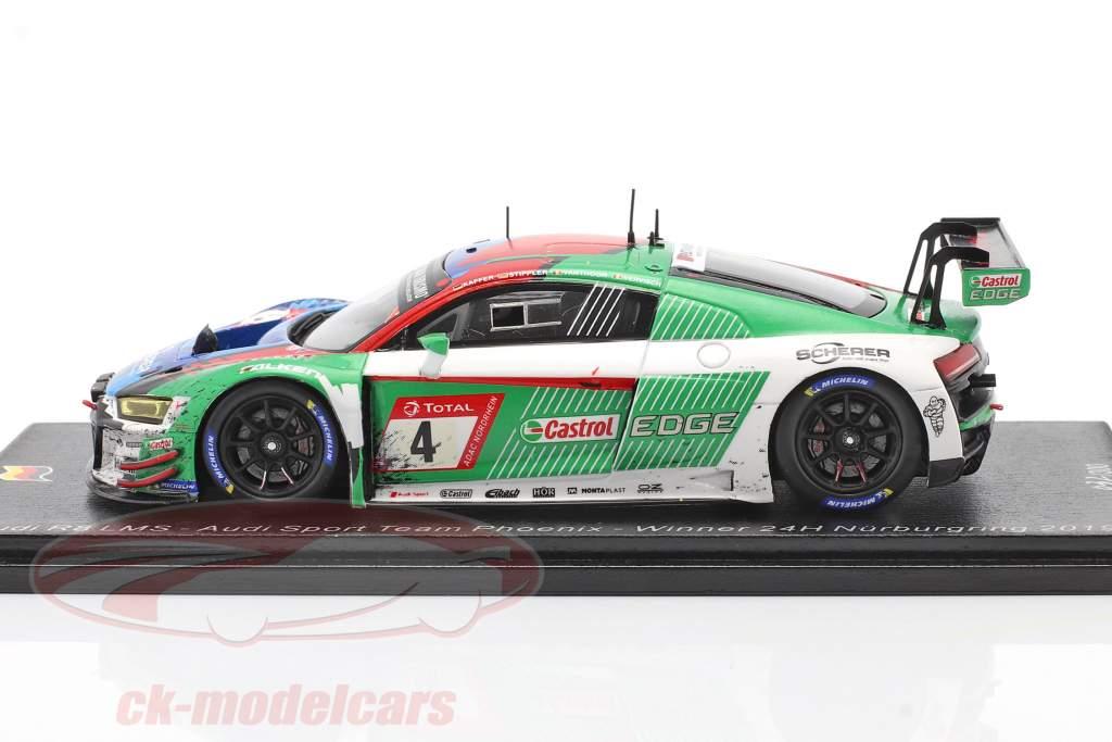 Audi R8 LMS GT3 #4 Ganador 24h Nürburgring 2019 Sucio versión 1:43 Spark