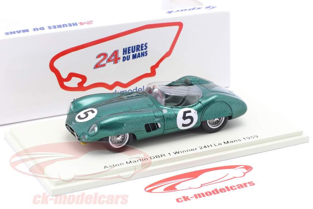 Aston Martin DBR 1 #5 Gagnant 24h LeMans 1959 Shelby, Salvadori 1:43 Spark