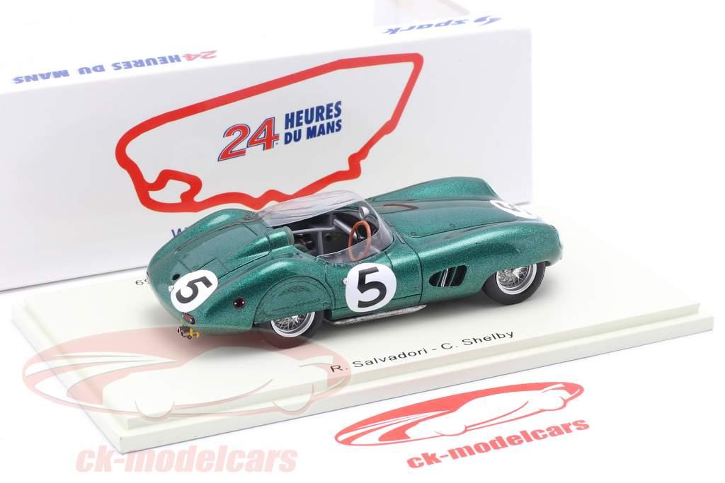 Aston Martin DBR 1 #5 Winnaar 24h LeMans 1959 Shelby, Salvadori 1:43 Spark