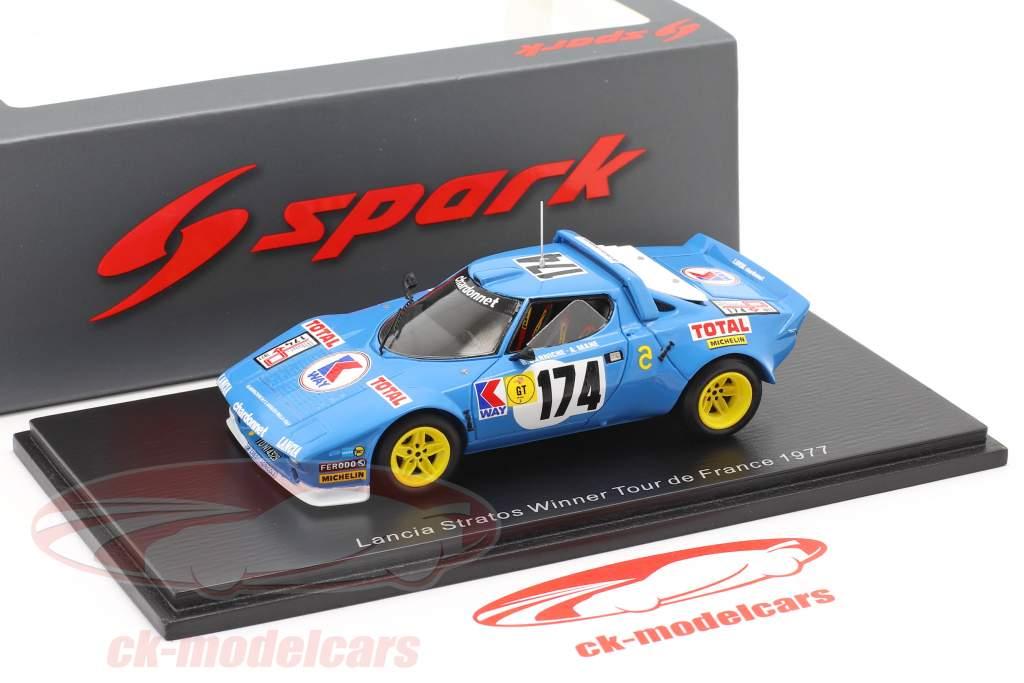 Lancia Stratos HF #174 Winnaar Tour de France 1977 Darniche, Mahe 1:43 Spark