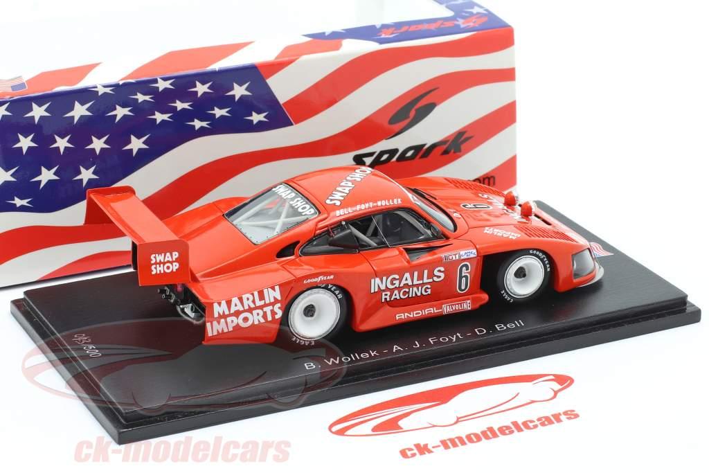 Porsche 935 #6 Tercero 12h Sebring 1984 Bell, Foyt, Wollek 1:43 Spark