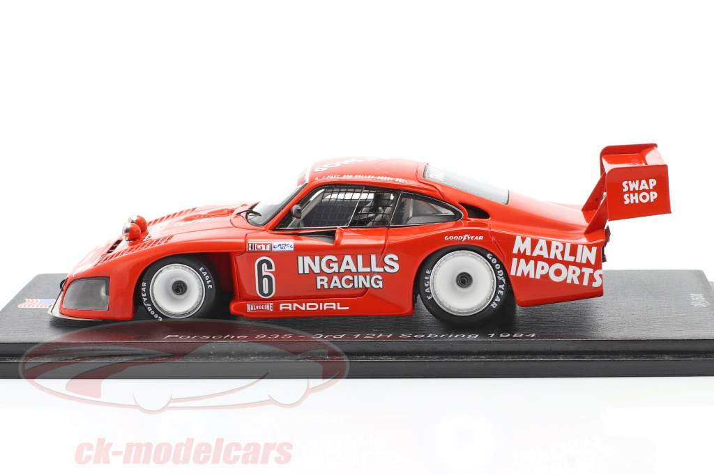 Porsche 935 #6 3e 12h Sebring 1984 Bell, Foyt, Wollek 1:43 Spark