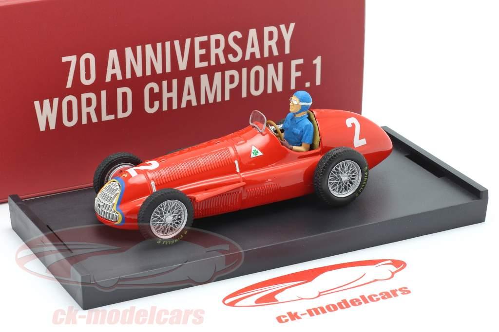 Juan Manuel Fangio Alfa Romeo 159 #2 Campeón mundial Bélgica GP F1 1951 1:43 Brumm