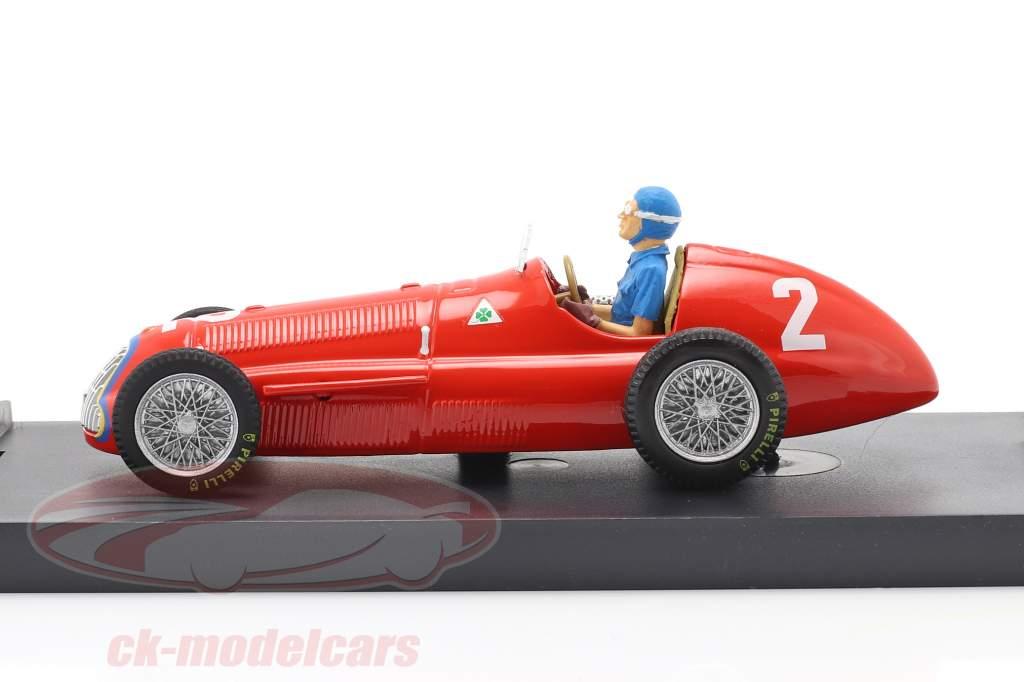 Juan Manuel Fangio Alfa Romeo 159 #2 Weltmeister Belgien GP F1 1951 1:43 Brumm
