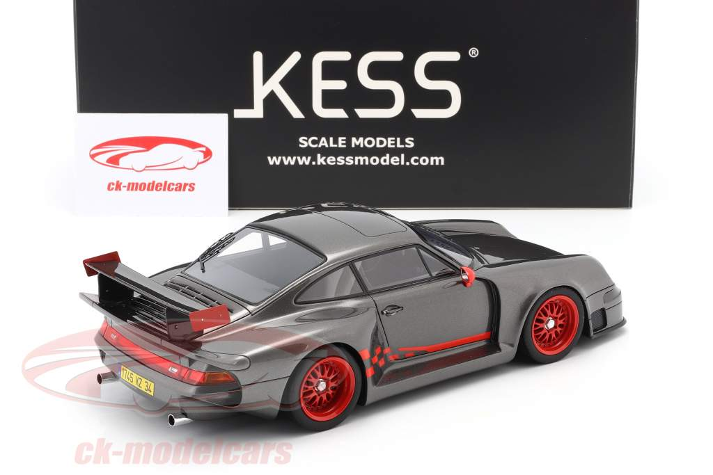 Porsche 911 (993) GT1 Almeras grau metallic 1:18 KESS