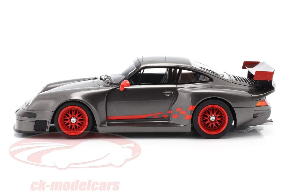 Porsche 911 (993) GT1 Almeras gris metálico 1:18 KESS