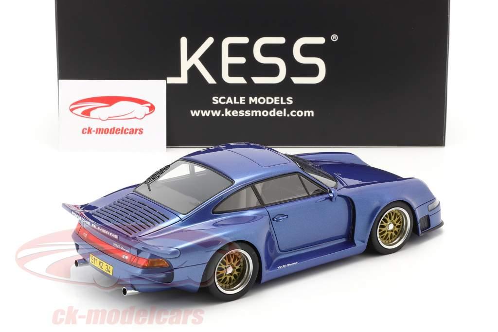 Porsche 911 (993) GT1 Almeras blauw metalen 1:18 KESS