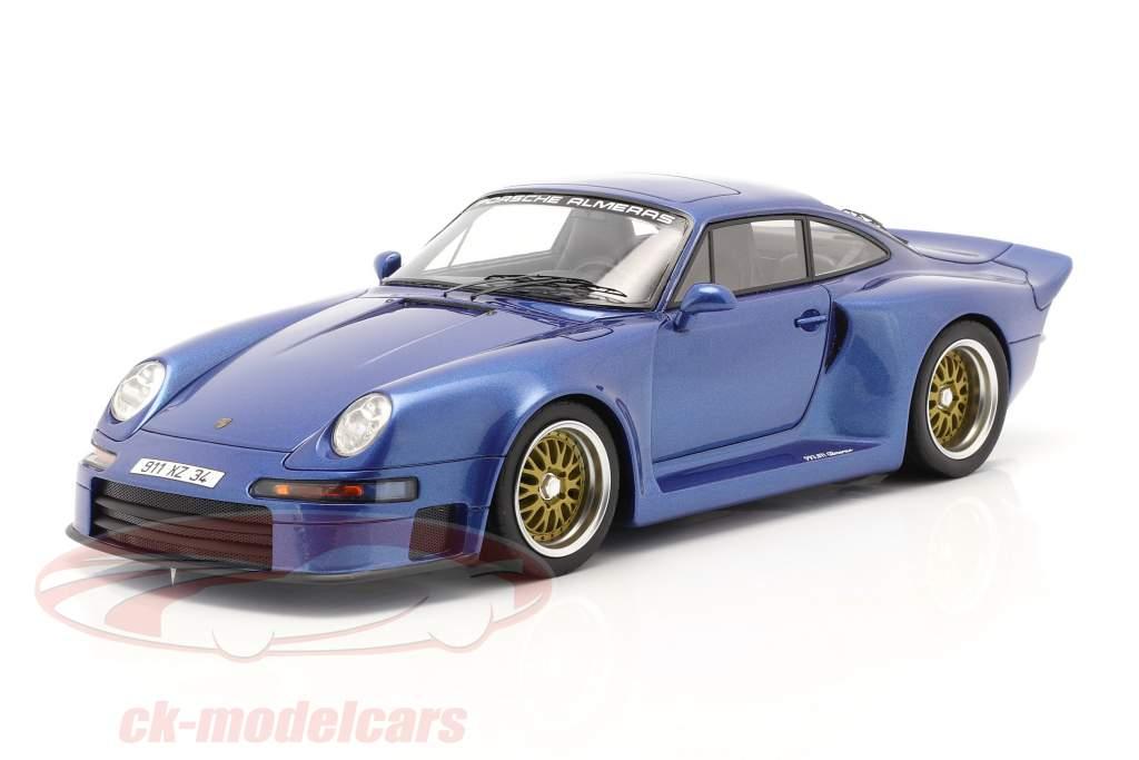 Porsche 911 (993) GT1 Almeras blå metallisk 1:18 KESS