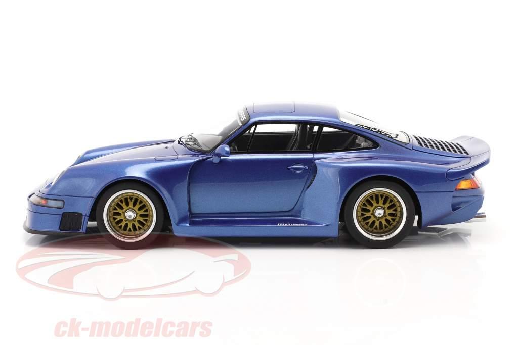 Porsche 911 (993) GT1 Almeras blu metallico 1:18 KESS