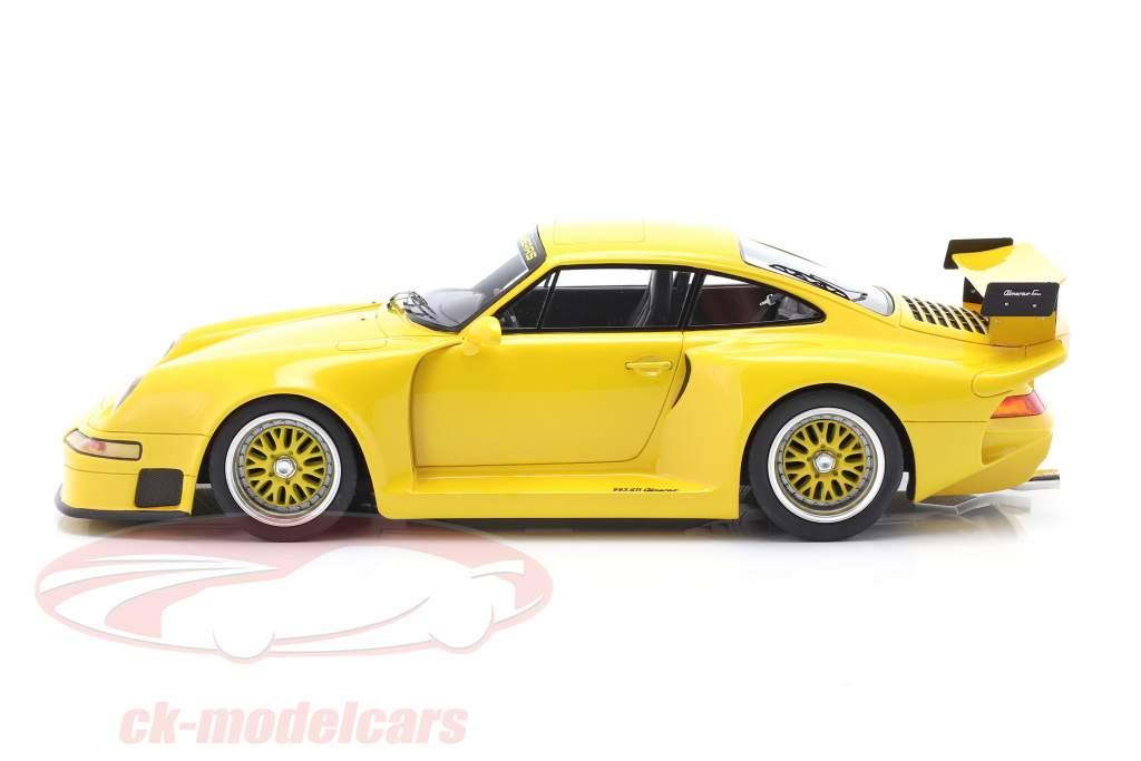 Porsche 911 (993) GT1 Almeras giallo 1:18 KESS