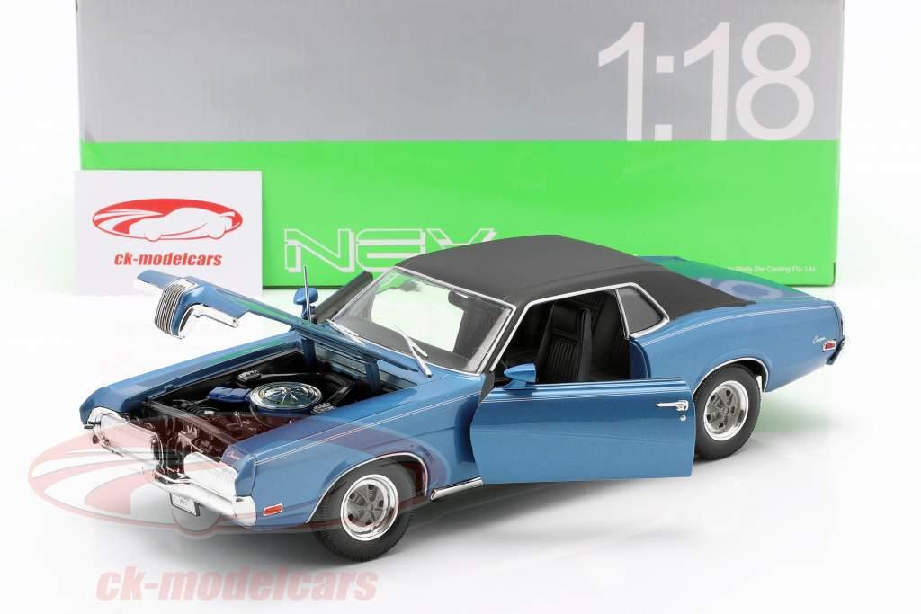 Mercury Cougar XR7 Anno 1970 blu 1:18 Welly