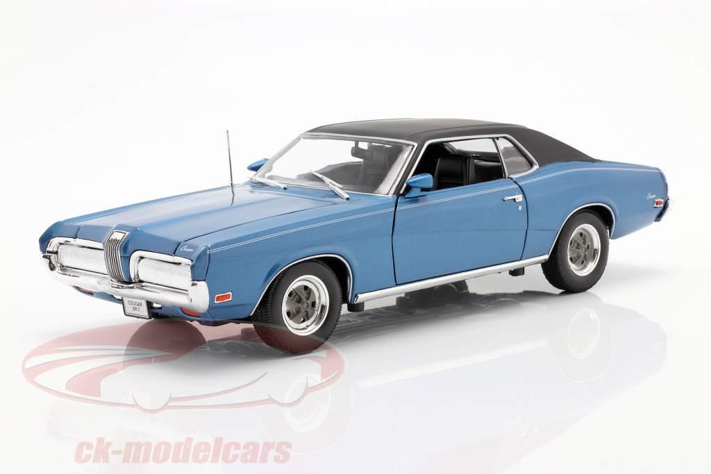 Mercury Cougar XR7 Année 1970 bleu 1:18 Welly