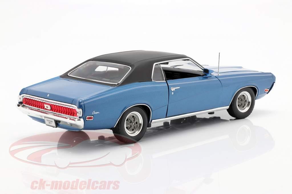 Mercury Cougar XR7 Jaar 1970 blauw 1:18 Welly
