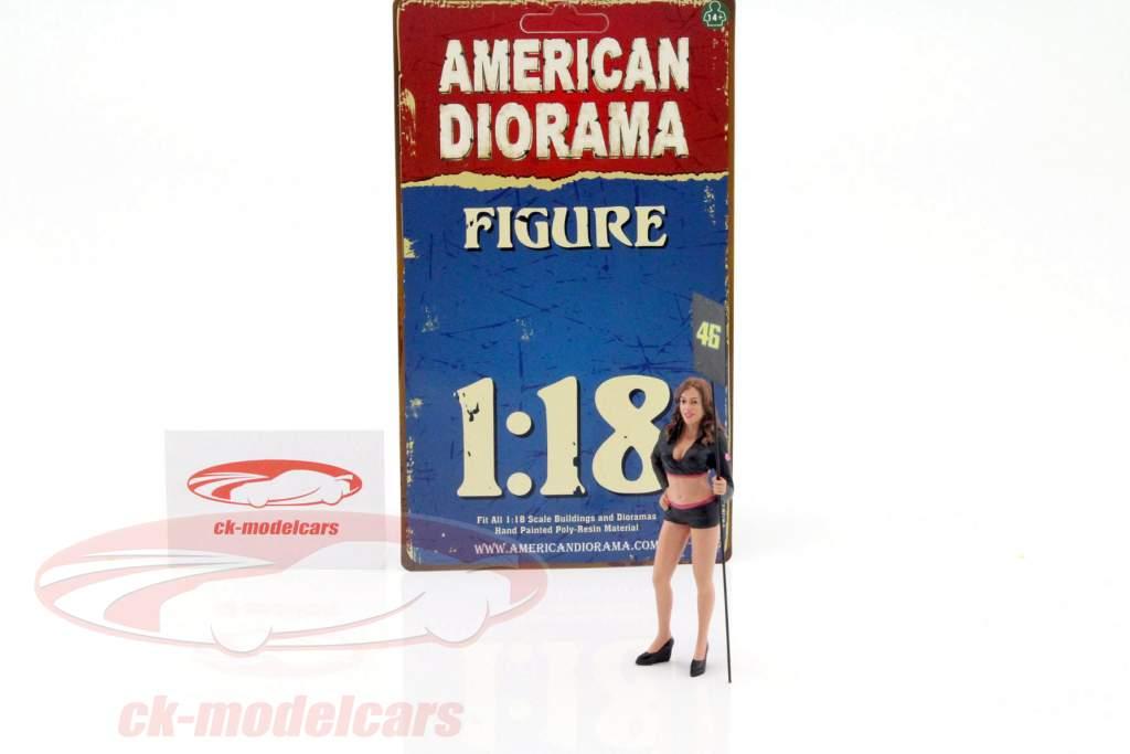 Paddock pige figur 1:18 American Diorama