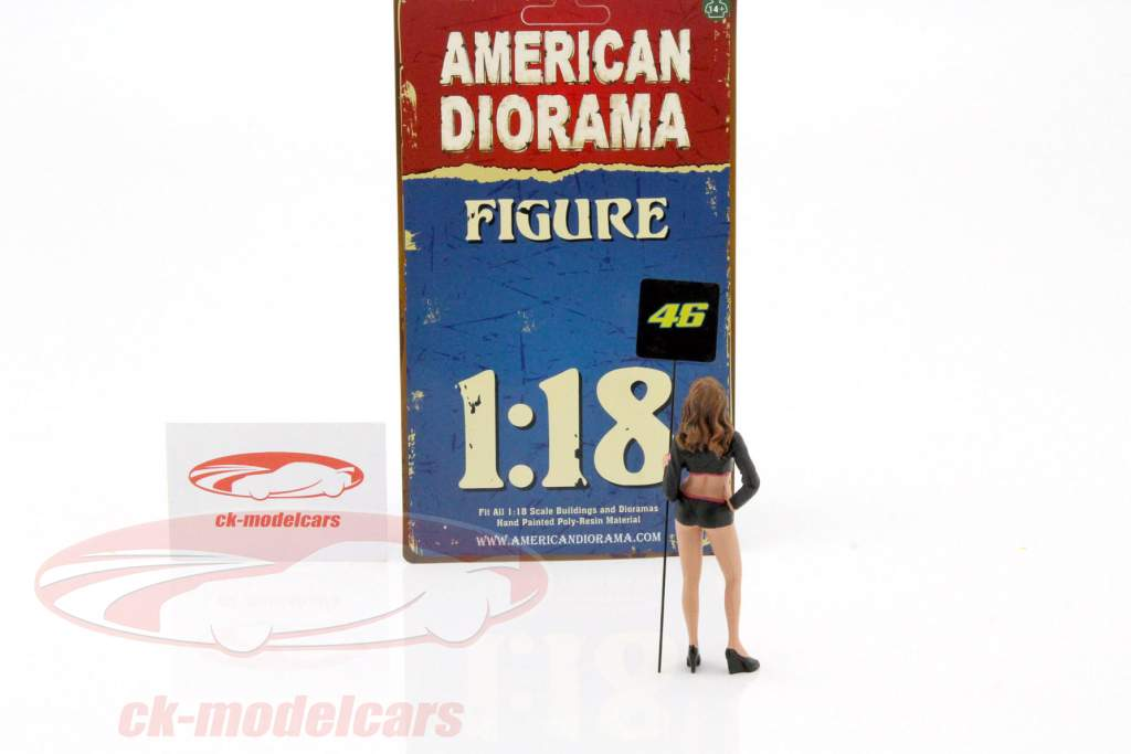 paddock chica figura 1:18 American Diorama