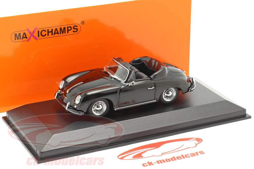 Porsche 356 A Cabriolet anno 1956 nero 1:43 Minichamps