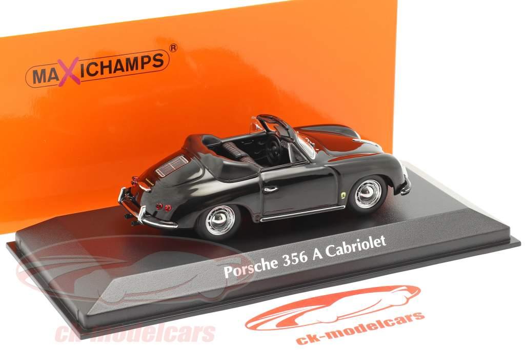 Porsche 356 A Cabriolet year 1956 black 1:43 Minichamps
