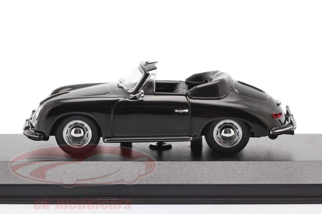 Porsche 356 A Cabriolet år 1956 sort 1:43 Minichamps