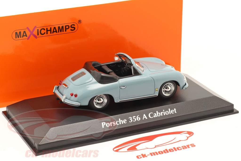 Porsche 356 A Cabriolet anno 1956 blu 1:43 Minichamps