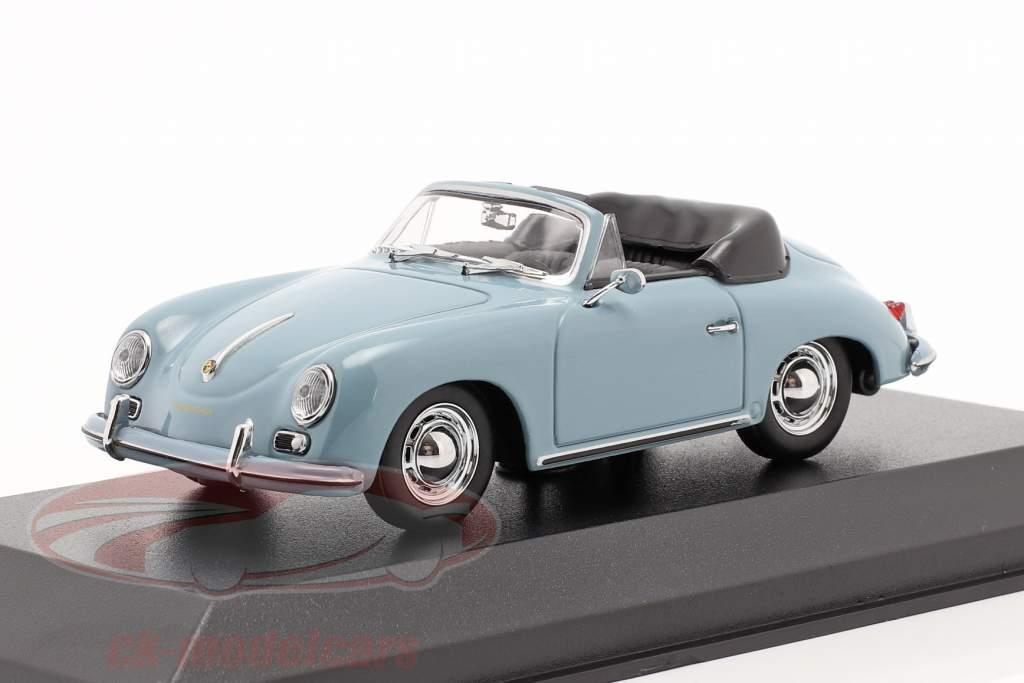 Porsche 356 A Cabriolet Baujahr 1956 blau 1:43 Minichamps