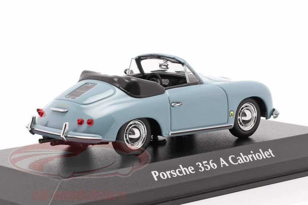 Porsche 356 A Cabriolet jaar 1956 blauw 1:43 Minichamps
