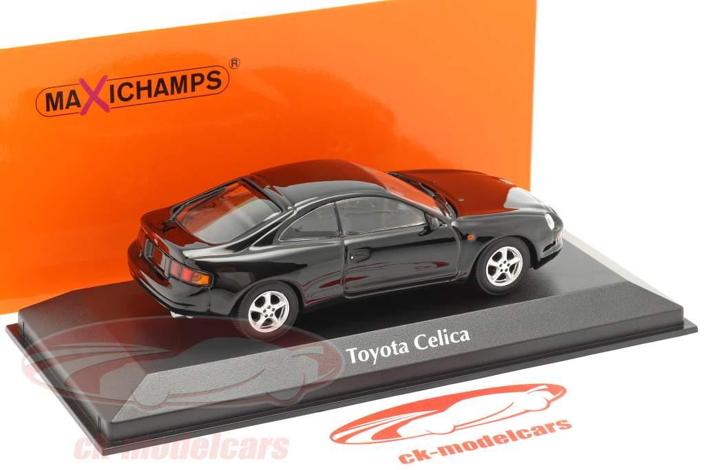 Toyota Celica ano 1994 Preto 1:43 Minichamps