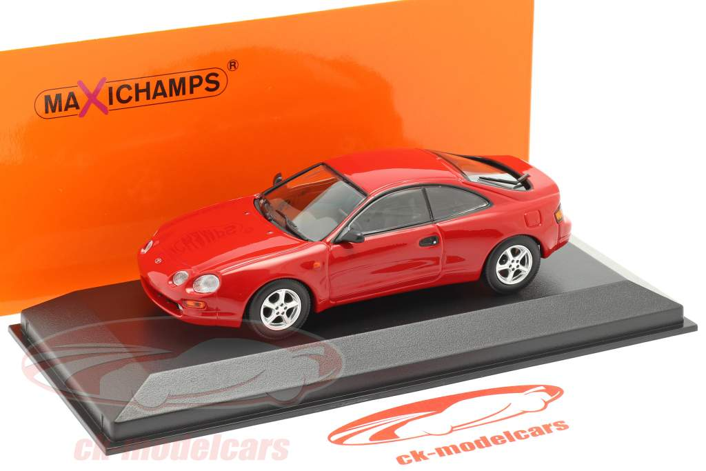 Toyota Celica ano 1994 vermelho 1:43 Minichamps