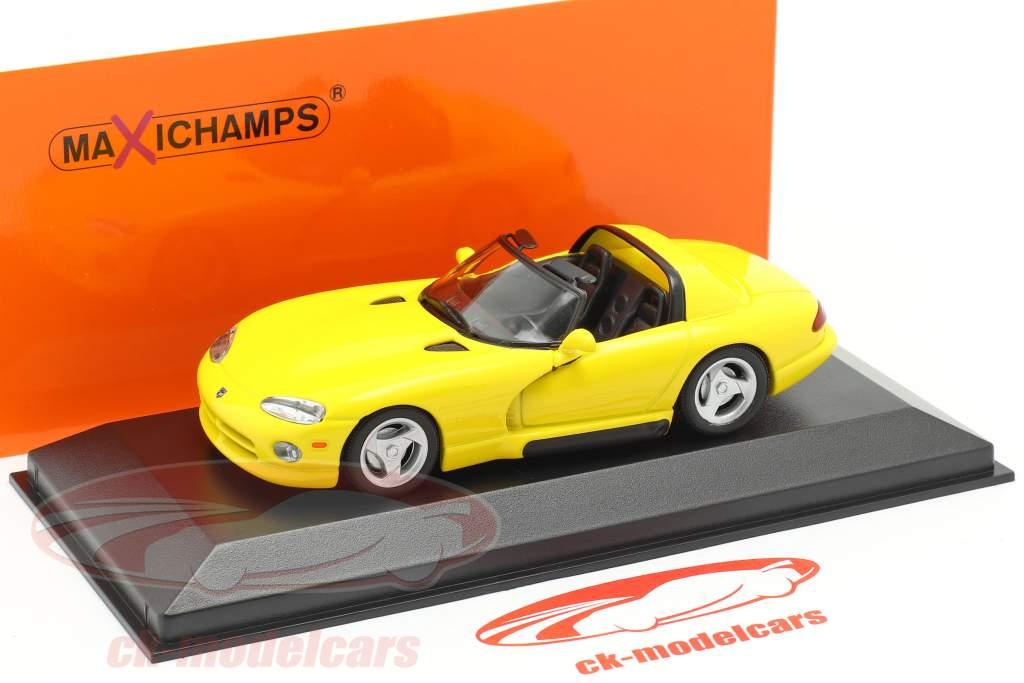 Dodge Viper Roadster jaar 1993 geel 1:43 Minichamps