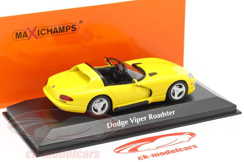 Dodge Viper Roadster år 1993 gul 1:43 Minichamps