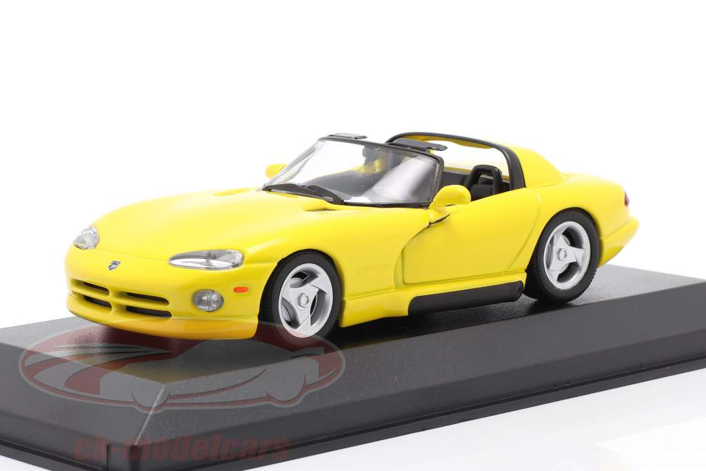 Dodge Viper Roadster year 1993 yellow 1:43 Minichamps