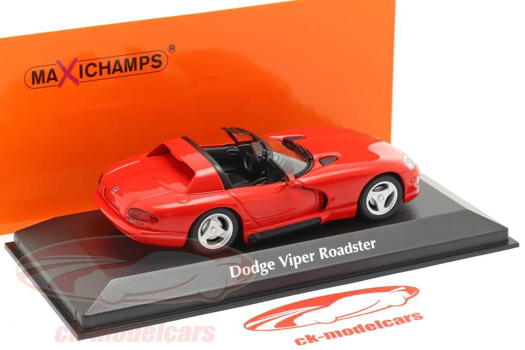 Dodge Viper Roadster jaar 1993 rood 1:43 Minichamps