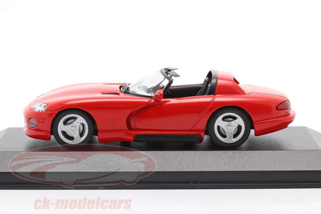 Dodge Viper Roadster ano 1993 vermelho 1:43 Minichamps