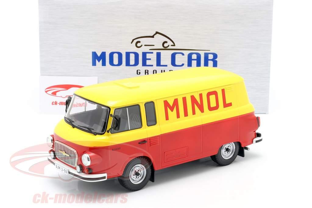 Barkas B 1000 Kastenwagen Minol giallo / rosso 1:18 Model Car Group