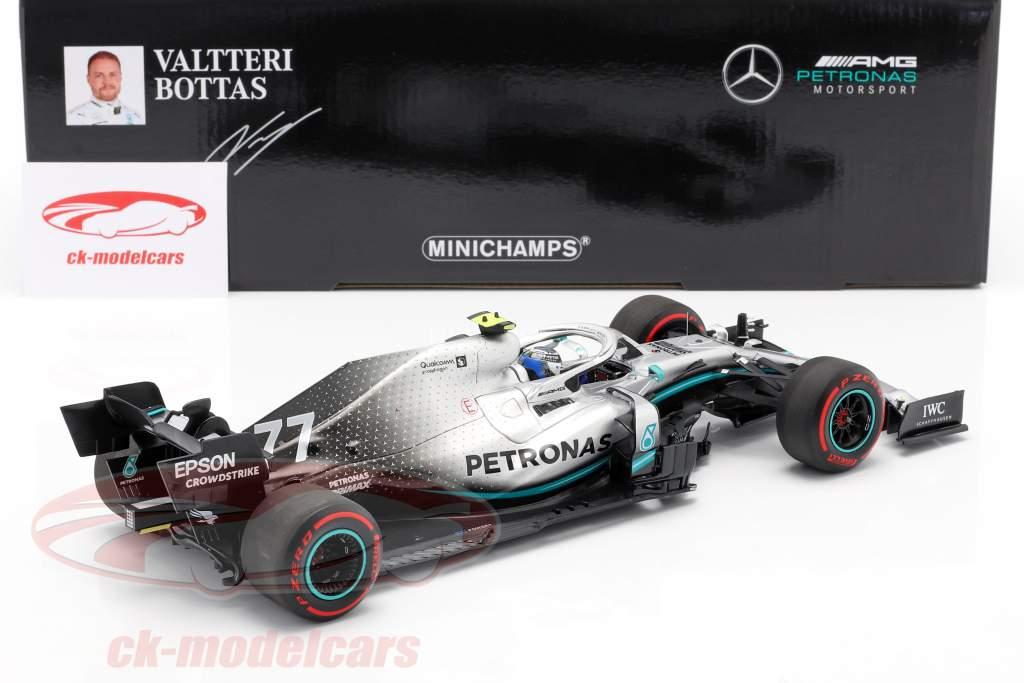 V. Bottas Mercedes-AMG F1 W10 #77 Gran Bretaña GP F1 2019 1:18 Minichamps