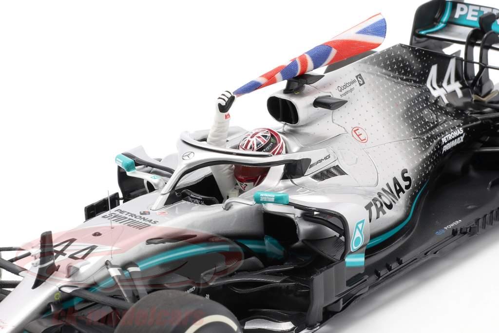 L. Hamilton Mercedes-AMG F1 W10 #44 Weltmeister Großbritannien GP F1 2019 1:18 Minichamps