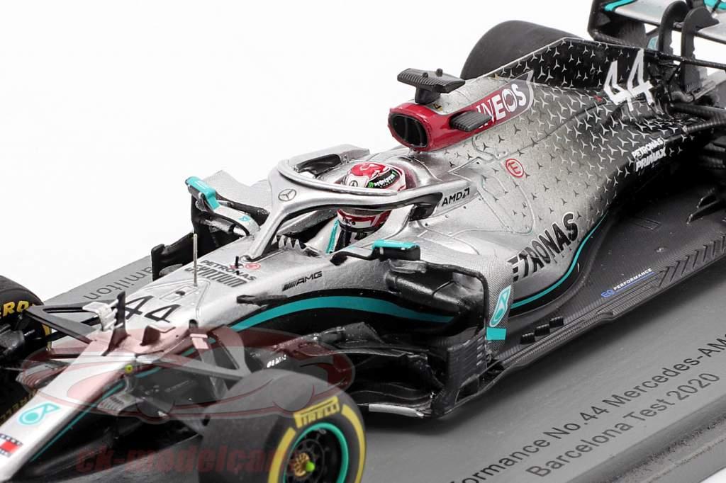 L. Hamilton Mercedes-AMG F1 W11 EQ #44 Test Barcelona Formule 1 2020 1:43 Spark