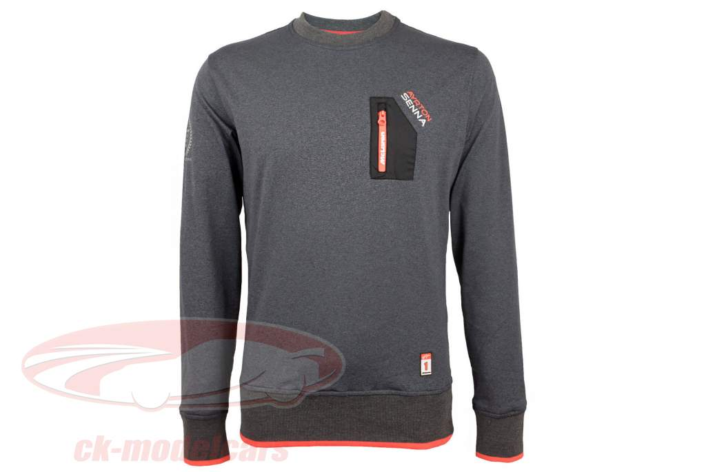 Ayrton Senna pull-over McLaren 3 Times World Champion gris