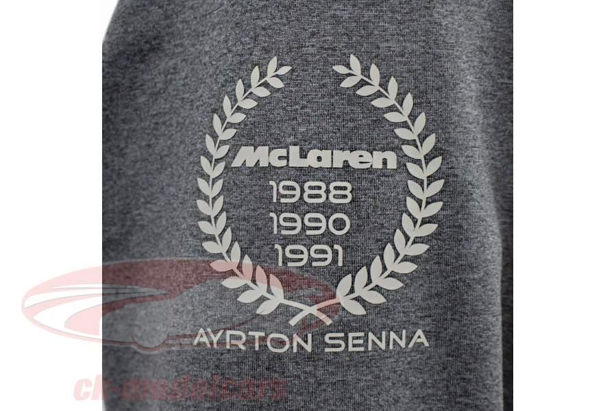 Ayrton Senna stoppen McLaren 3 Times World Champion Grijs
