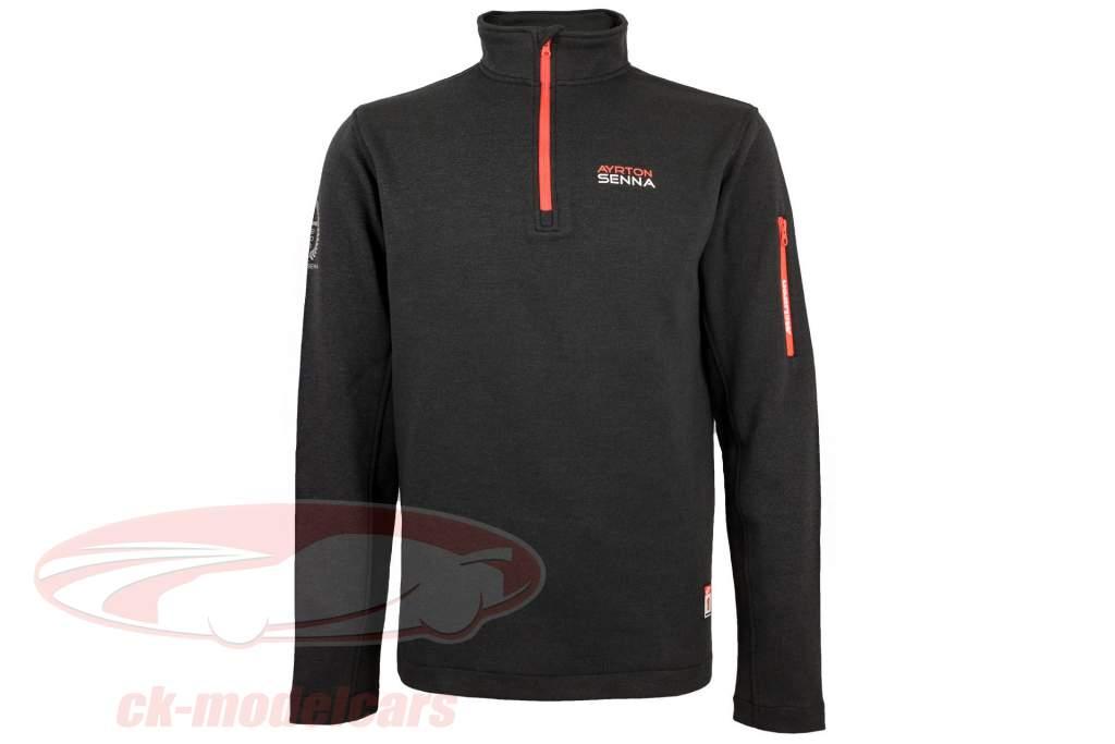 Ayrton Senna Maglione McLaren 3 Times World Champion antracite