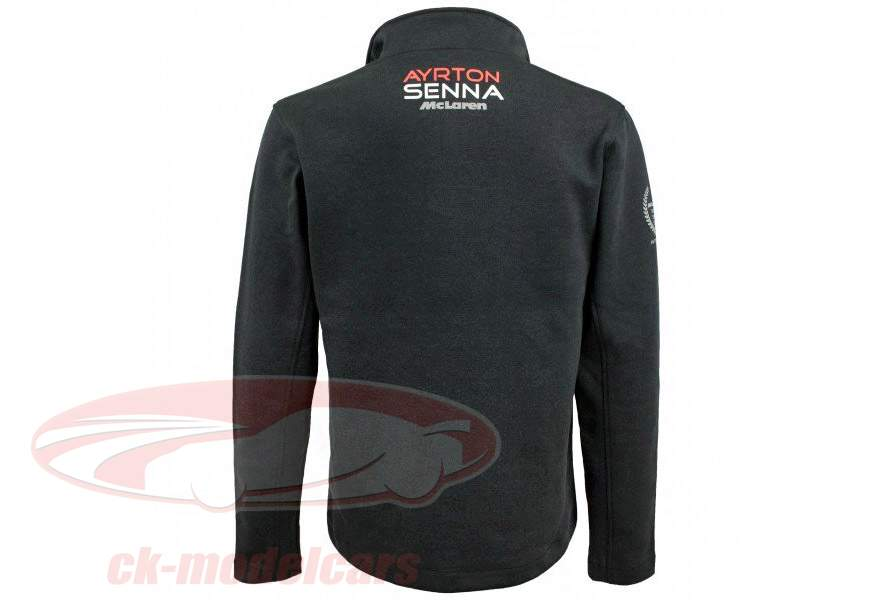 Ayrton Senna pull-over McLaren 3 Times World Champion antracita