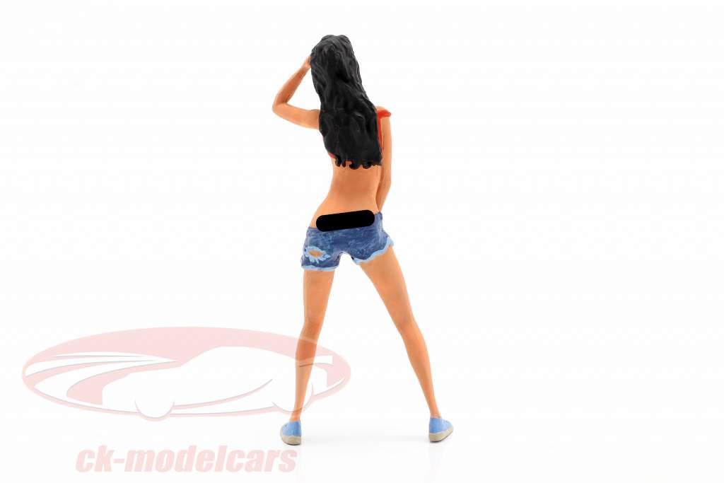 bil vaske pige Steffi figur 1:18 FigurenManufaktur