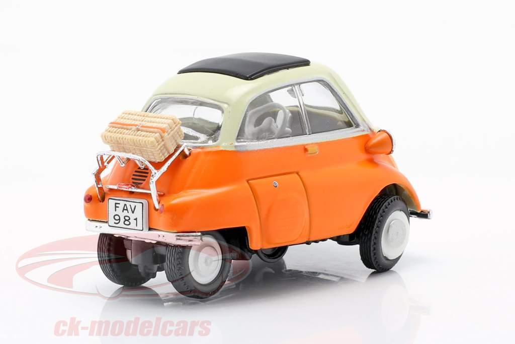 BMW Isetta 250 orange / white 1:43 Cararama