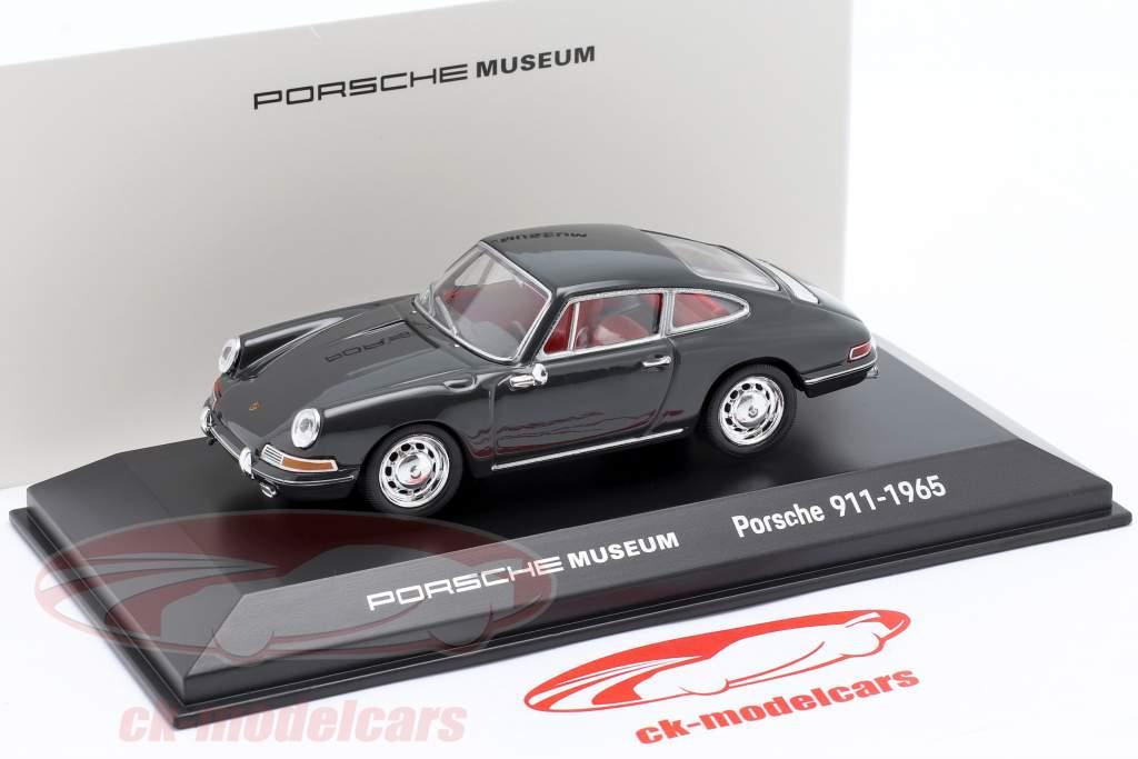 Porsche 911 (modelo original) 1965 cinza 1:43 Welly