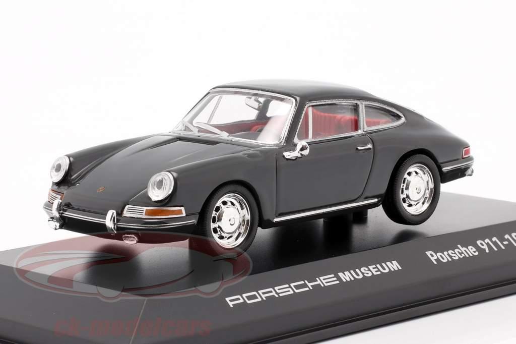 Porsche 911 (origineel model) 1965 grijs 1:43 Welly