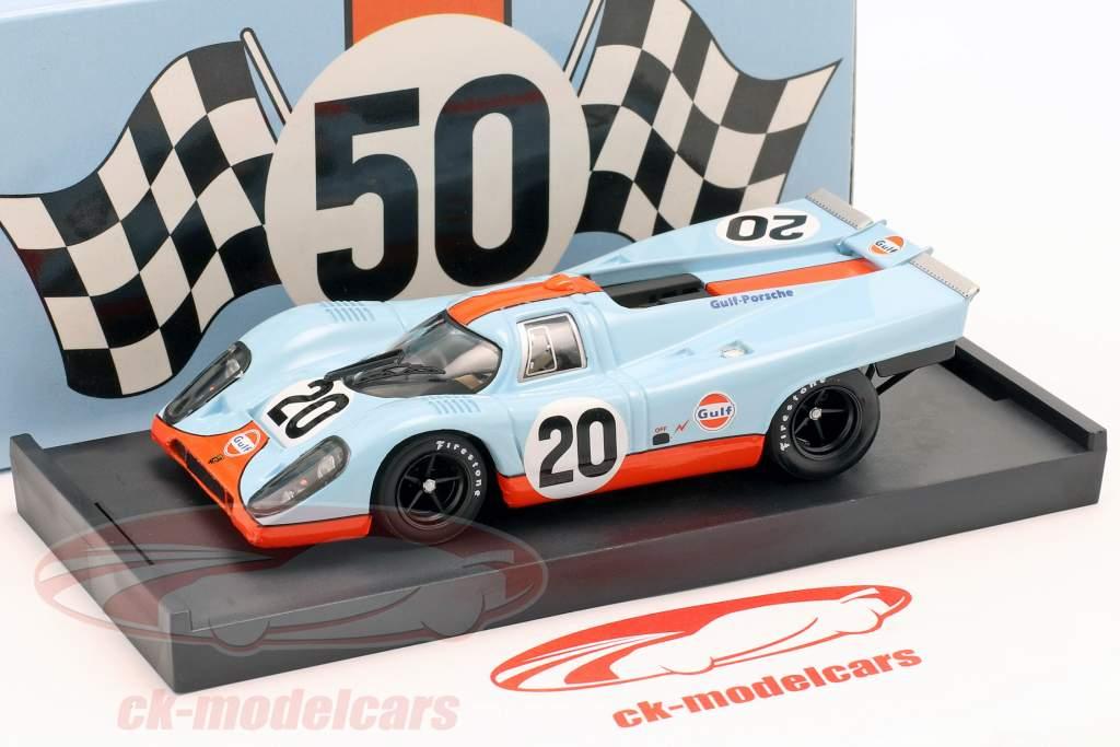 º 20 do Golfo Porsche 917 K Siffert Redman 24h LeMans 1970 1:43 Brumm