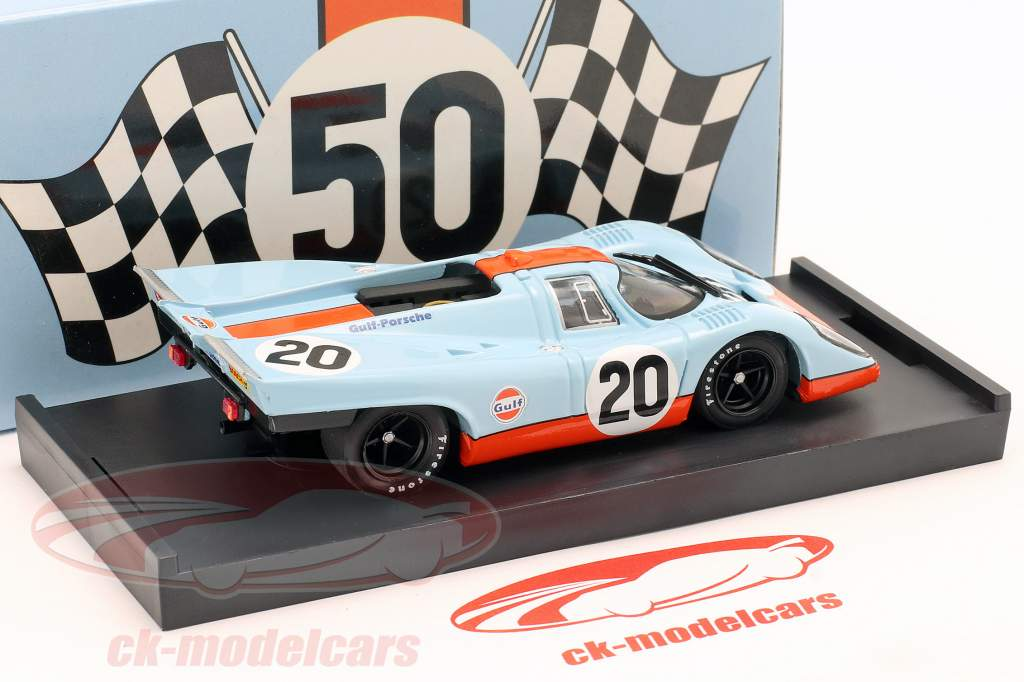 Porsche 917 K #20 Gulf Siffert Redman 24h LeMans 1970 1:43 Brumm